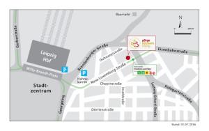 Anreise mit PKW oder TRAM zum Pflegenetzwerk Leipzig